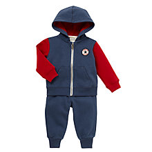 Buy Converse Children's Colour Block Hoodie Set, Navy/Red Online at johnlewis.com