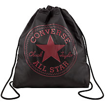 Buy Converse Children's All Star Drawstring Bag, Black Online at johnlewis.com