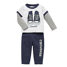 Buy Converse Baby's Two Piece Outfit, Navy Online at johnlewis.com