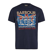 Buy Barbour International Legend British Team T-Shirt, Navy Online at johnlewis.com