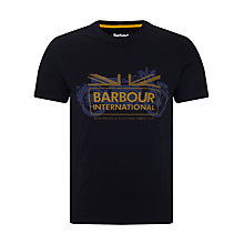 Buy Barbour International Legend T-Shirt, Black Online at johnlewis.com