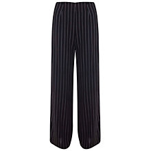 Buy Miss Selfridge Pinstripe Wide Leg Trousers, Black Online at johnlewis.com
