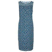 Buy Jacques Vert Spot Layer Dress, Mid Blue Online at johnlewis.com