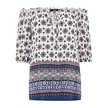 Buy Oasis Paisley Gypsy Top, Multi Online at johnlewis.com