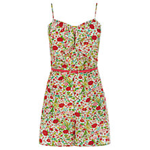 Buy Oasis Summer Floral Front Playsuit, Multi Online at johnlewis.com