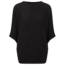 Buy Reiss Oversized Knitted Jumper, Black Online at johnlewis.com