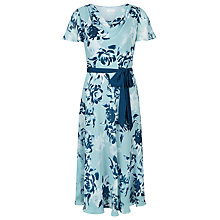 Buy Jacques Vert Fit And Flare New Floral Dress, Blue Online at johnlewis.com