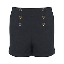 Buy Miss Selfridge Faux Denim Shorts, Mid Blue Online at johnlewis.com
