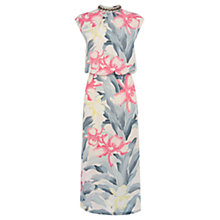 Buy Oasis Embroidered Kimono Oriental Midi Dress, Multi White Online at johnlewis.com