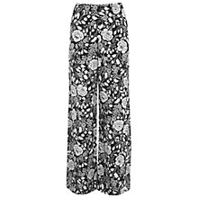 Buy Miss Selfridge Monochrome Floral Wide Leg Trousers, Multi Online at johnlewis.com