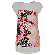 Buy Oasis Shadow Lily Pitch T-shirt, Multi Grey Online at johnlewis.com
