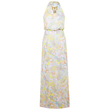 Buy Miss Selfridge Swirl Print Maxi Dress, White/Multi Online at johnlewis.com