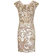 Buy Miss Selfridge Premium Collection Alice Bodycon Dress, Gold Online at johnlewis.com