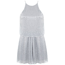 Buy Miss Selfridge Lurex Playsuit, Silver Online at johnlewis.com