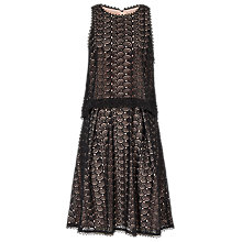 Buy Reiss Layered Lace Dress, Black/Nude Online at johnlewis.com