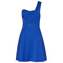 Buy Reiss Asmet Striped Dress, Electric Blue Online at johnlewis.com