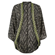 Buy Warehouse Batik Embroidered Trim Kimono, Multi Online at johnlewis.com