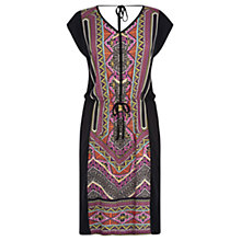 Buy Warehouse Aztec Print T-Shirt Dress, Multi Online at johnlewis.com