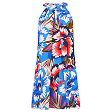 Buy Warehouse Oversize Floral Halterneck Dress, Multi Online at johnlewis.com