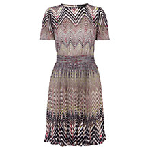Buy Karen Millen Dot Zig Zag Dress, Brown / Multi Online at johnlewis.com