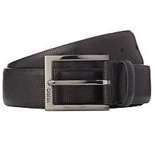 Buy HUGO C-Perries Leather Belt, Black Online at johnlewis.com