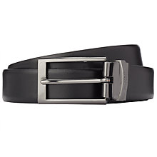 Buy HUGO by Hugo Boss C-Elvio Reversible Leather Belt, Black/Brown Online at johnlewis.com