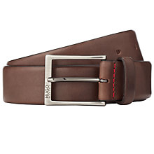 Buy HUGO C-Gerron Leather Belt, Brown Online at johnlewis.com