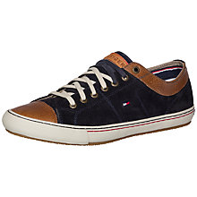 Buy Tommy Hilfiger Walker Suede Trainers, Midnight Online at johnlewis.com