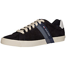 Buy Tommy Hilifiger Volley Suede Trainers, Midnight Online at johnlewis.com