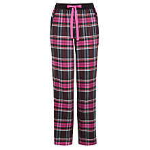 Buy DKNY Plaid Perfect Check Pyjamas Pants, Black/Pink Online at johnlewis.com