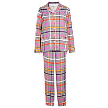 Buy DKNY Check Flannel Pyjama Set, Multi Online at johnlewis.com