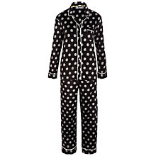 Buy DKNY Spot Fleece Pyjama Set, Black Multi Online at johnlewis.com