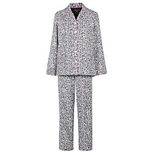 Buy DKNY Animal Flannel Pyjama Set, White Online at johnlewis.com