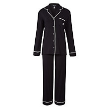 Buy DKNY Urban Essentials Signature Pyjama Set, Black Online at johnlewis.com