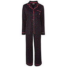 Buy DKNY Dot Print Pyjama Set, Black Multi Online at johnlewis.com