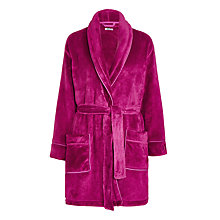 Buy DKNY Short Logo Robe, Orchid Online at johnlewis.com
