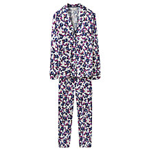 Buy Joules Confetti Floral Print Pyjama Set, Multi Online at johnlewis.com