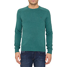 Buy Original Penguin Camford Crew Neck Cotton Jumper, Storm Green Online at johnlewis.com
