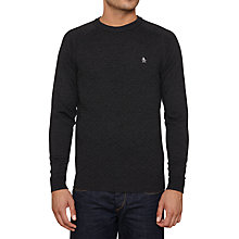 Buy Original Penguin Marley Cable Jumper, Grey Online at johnlewis.com