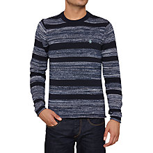 Buy Original Penguin Cortex Stripe Jumper, Dark Sapphire Online at johnlewis.com