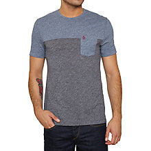 Buy Original Penguin Boolean Cut T-shirt, Dark Sapphire Online at johnlewis.com