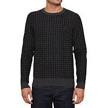 Buy Original Penguin Hound Crew Jumper, True Black Online at johnlewis.com