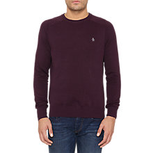 Buy Original Penguin Camford Crew Neck Cotton Jumper, Purple Online at johnlewis.com