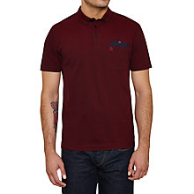 Buy Original Penguin Levant Polo Shirt, Pomegranate Online at johnlewis.com