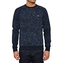 Buy Original Penguin Particle Crew Jersey Top, Dark Sapphire Online at johnlewis.com
