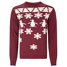 Buy Original Penguin Snowflake Fair Isle Jumper, Pomegranate Online at johnlewis.com