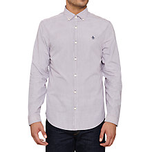Buy Original Penguin Dressy Striped Long Sleeve Shirt, Italian Plum Online at johnlewis.com