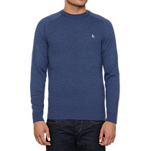 Buy Original Penguin Marley Cable Jumper, Navy Online at johnlewis.com