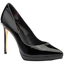 Buy Ted Baker Erella Patent Pointed Court Shoes, Black Online at johnlewis.com