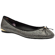 Buy Ted Baker Imme Faux Snakeskin Ballerina Pumps Online at johnlewis.com
